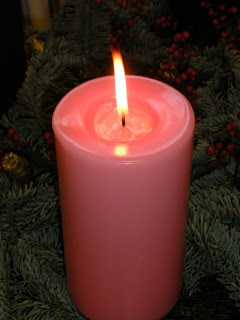 rose colored candle single