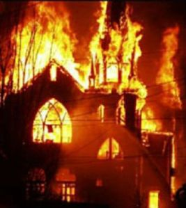 coptic church burning