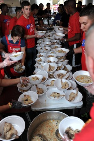 US Army Garrison Red Cloud - Casey Camp Stanley volunteers support local soup kitchen