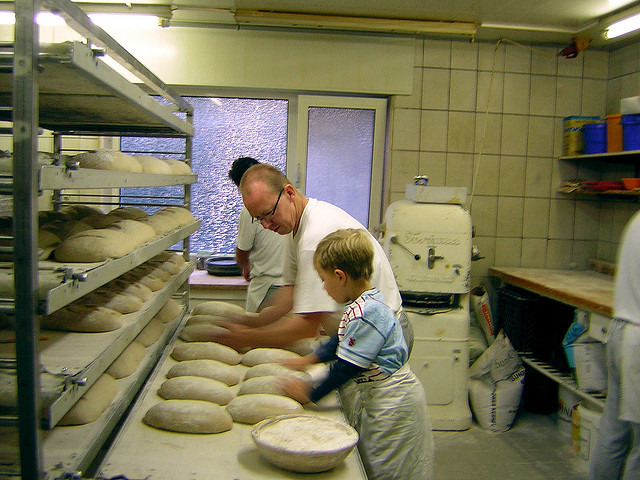 glasseyes view in the bakery: father and son Flickr Creative Commons