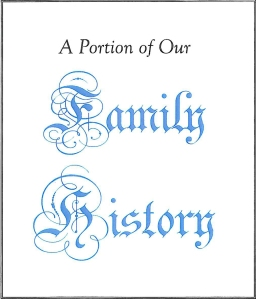 family history title page